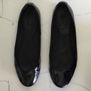 Banana Republic Abby Crinkle Patent Leather Flats